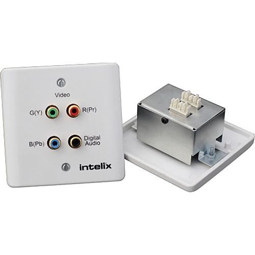Intelix AVO-V3AD-WP110-EU Component Video & Digital Audio Wallplate Balun (Europe) (Bulk Pack)