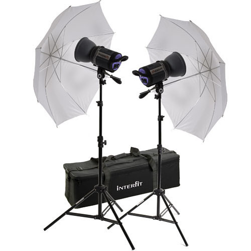 Interfit 750-X Two Floodlight Umbrella Kit