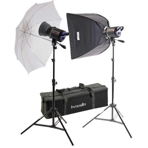 Interfit Stellar Tungsten Two-Light Umbrella-Softbox Kit