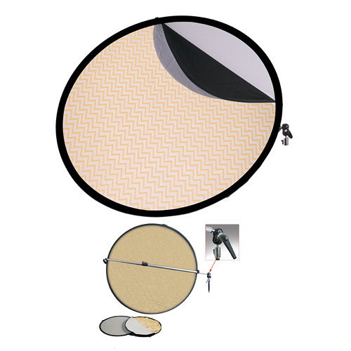 "Interfit Collapsible 5-in-1 Reflector Kit with Bracket (42"")"