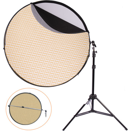 "Interfit Five-in-One 42"" Reflector and Arm Kit with Stand"