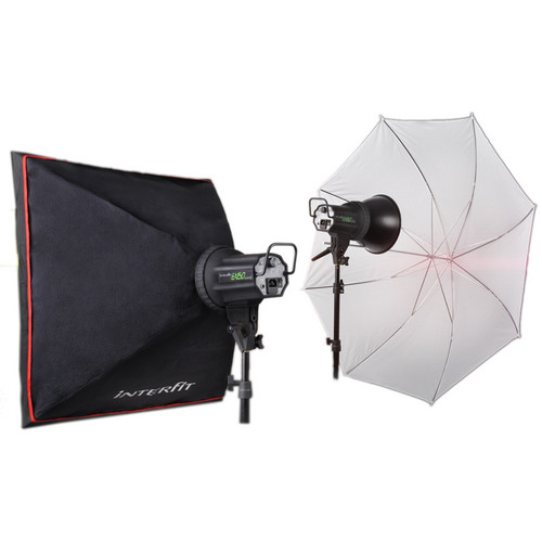 Interfit EX150 MKIII 2 Monolight Umbrella/Softbox Kit (120 VAC)