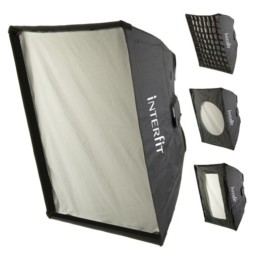"Interfit 24 x 32"" Softbox with Grid, Strip Mask"