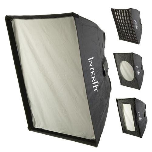 "Interfit 24 x 32"" Softbox with Grid, Strip Mask"