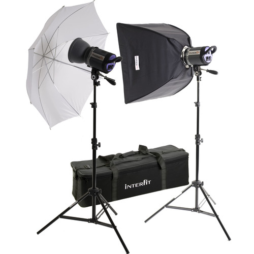 Interfit Stellar X 300 Flash Two Monolight Umbrella-Softbox Kit (120VAC)