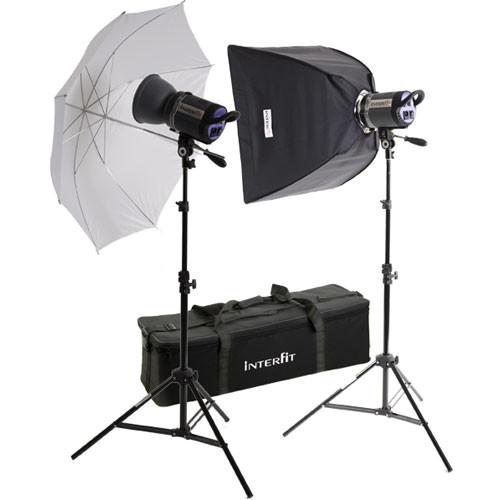 Interfit Stellar X 600 Flash Two Monolight Umbrella-Softbox Kit (120VAC)