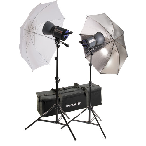 Interfit Stellar X 1000 Flash Two Monolight Umbrella Kit (120VAC)