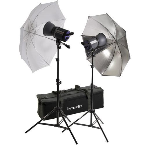 Interfit Stellar XD 1000 Flash Two Monolight Umbrella Kit (120VAC)
