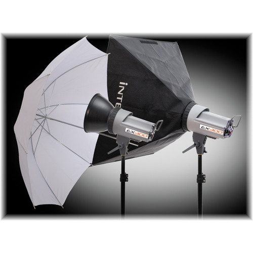 Interfit EX300 Softbox/Umbrella Kit