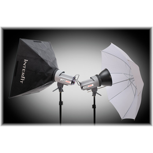 Interfit EXD400 Softbox/Umbrella Kit
