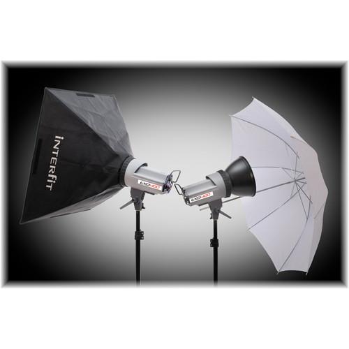 Interfit EXD400 Softbox/Umbrella Kit