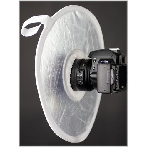 "Interfit STR112 On Camera Reflector, Silver/White - 12"" (30.5cm)"