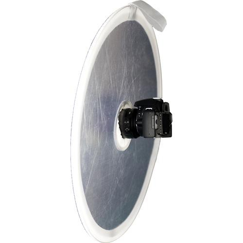 "Interfit STR122 On Camera Reflector, Silver/White - 22"" (56cm)"