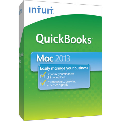 Intuit QuickBooks 2013 for Mac (1-User, CD-ROM)