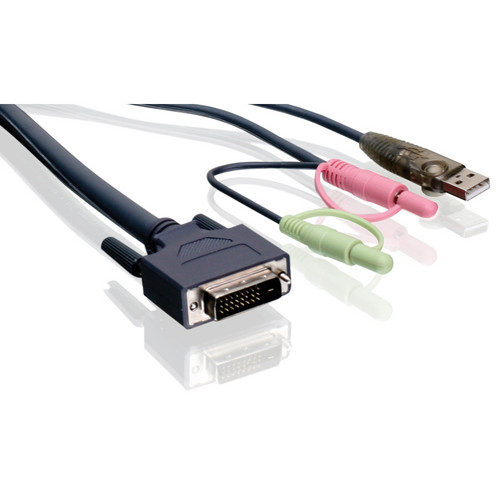IOGEAR 16' Dual-Link DVI KVM Cable