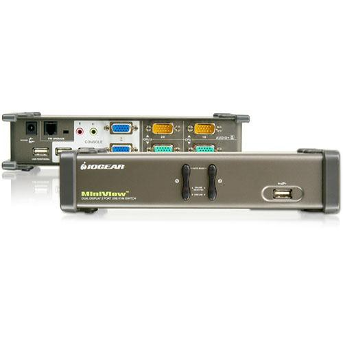IOGEAR Dual View GCS1742 2-Port USB KVM Switch with Dual Monitor Support