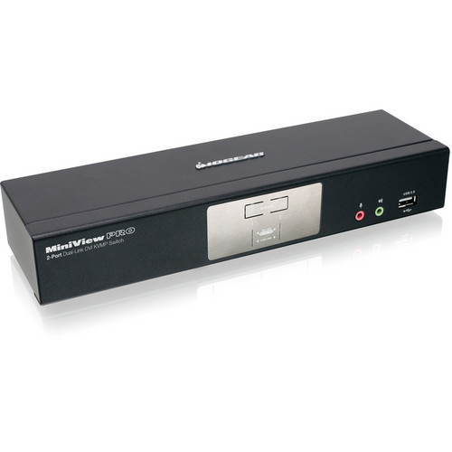 IOGEAR 2-Port Dual-Link DVI KVMP Pro with 7.1 Audio