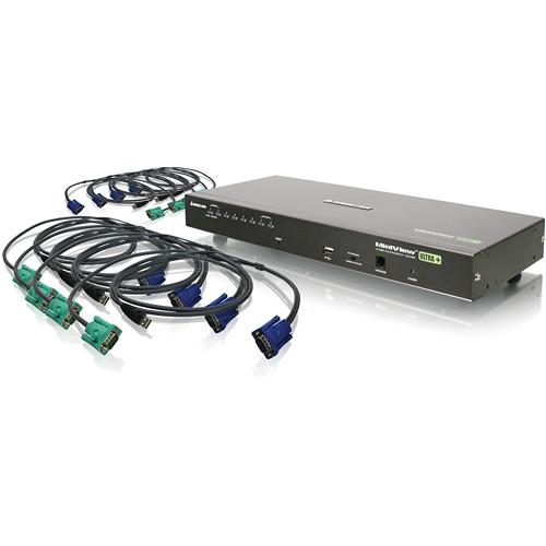 IOGEAR 8-Port USB PS/2 Combo KVMP Switch With USB KVM Cables