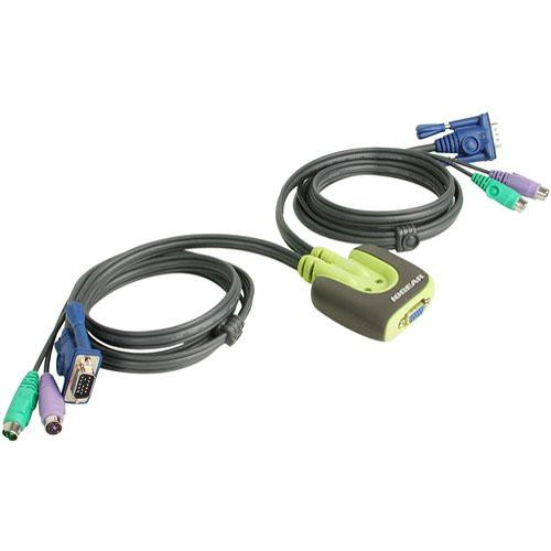 IOGEAR 2-Port MiniView PS2 Micro KVM switch with Cable