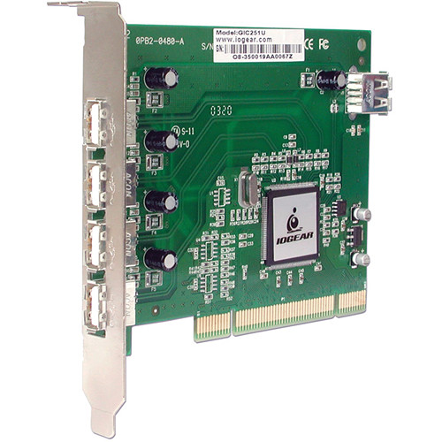 IOGEAR 5-Port USB 2.0 PCI Card