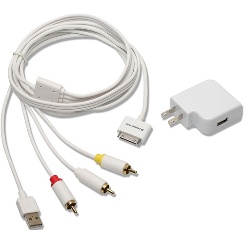 IOGEAR Composite AV Cable with Charge and Sync for iPhone/iPod - GIPODAVC6