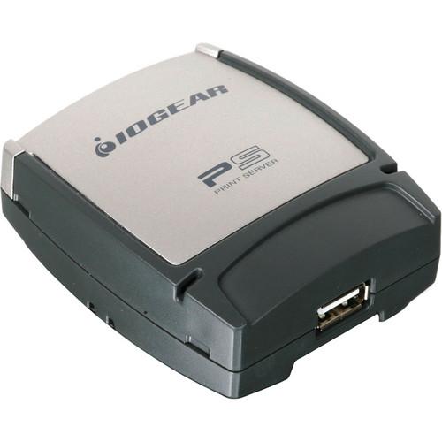 IOGEAR USB 2.0 Print Server, 1-Port Multi-Language Version