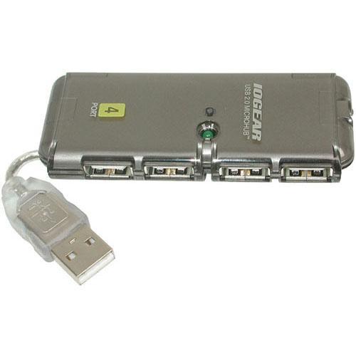 Iogear 4 port usb 2 0 micro hub guh274 b h photo video - Usb hub with micro usb port ...