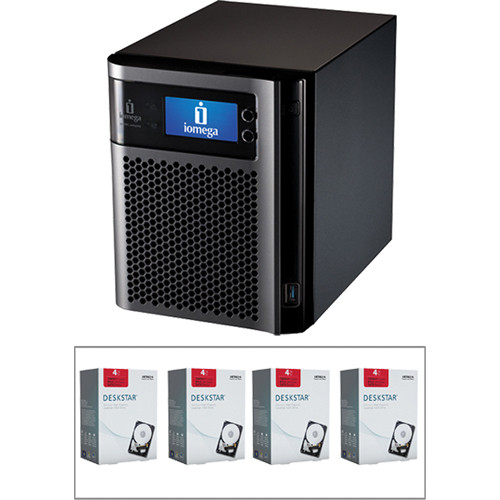 Iomega 16TB (4 x 4TB) StorCenter px4-300d Network Storage Enclosure Kit