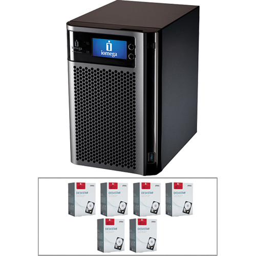 Iomega 24TB (6x 4TB) StorCenter px6-300d Network Storage Enclosure Kit