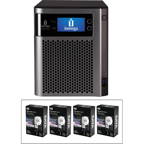 Iomega 4TB StorCenter px4-300d Network Storage Kit (4x 1TB Hard Drives)