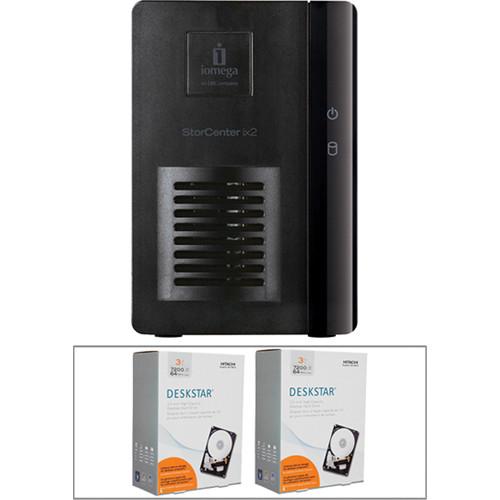 Iomega StorCenterix2-dl 2-Bay Diskless NAS & 6TB Hitachi Deskstar HDD Kit