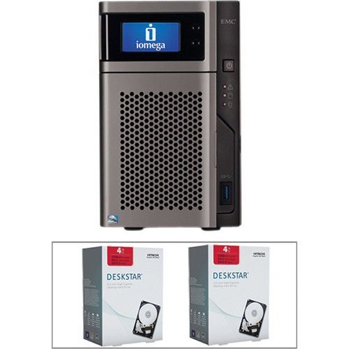 Iomega 8TB (2 x 4TB) StoreCenter px2-300d 2-Bay Network Storage Kit with Hard Drives