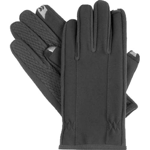 Isotoner Men's SmarTouch Gloves (Medium, Black)