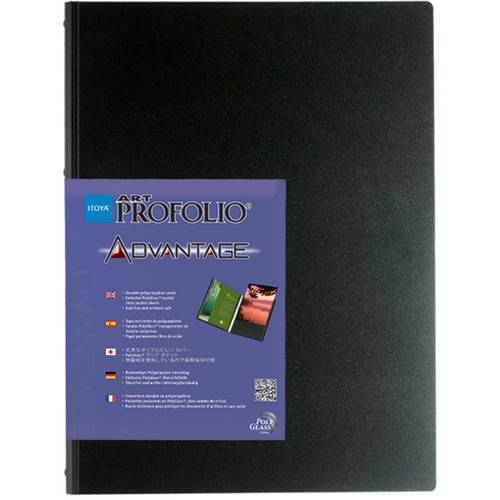 "Itoya Art Profolio Advantage Presentation/Display Book (14 x 17"", Black)"