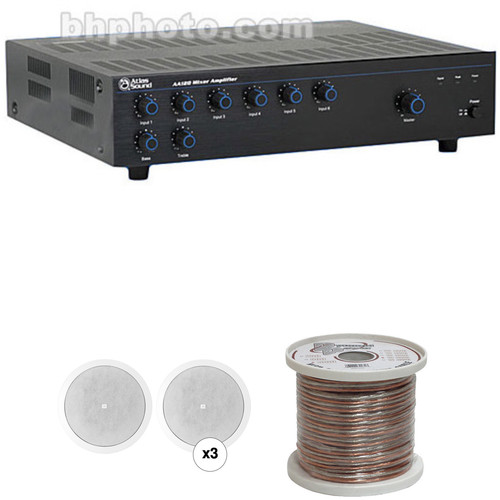 JBL Basic Single-Zone, 70V Ceiling Sound System for up to 1,000 sq ft.