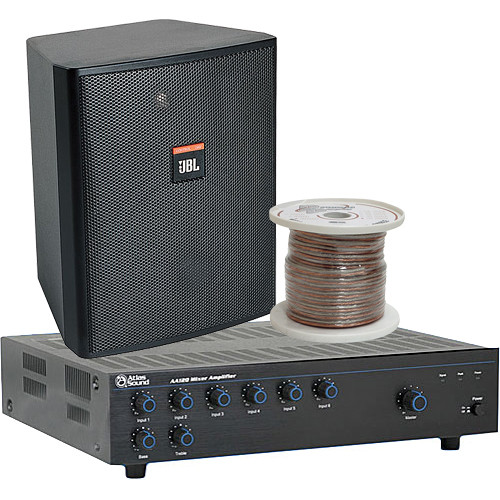 JBL Basic Single-Zone, 70V Wall Mount Sound System for up to 1,000 sq ft.