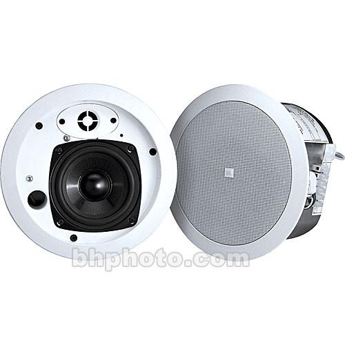 "JBL Control 24CT MicroPlus 4.5"" 2-Way 25W 70V/100V Ceiling Speaker (Pair, White)"