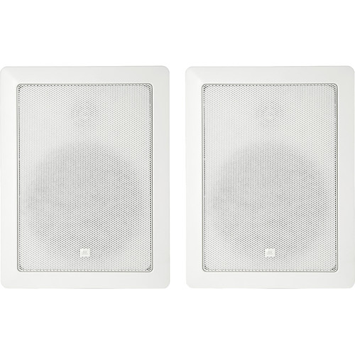 "JBL Control 126WT 6.5"" 2-Way 100W In-Wall 70V/100V Installation Speakers (Pair, White)"