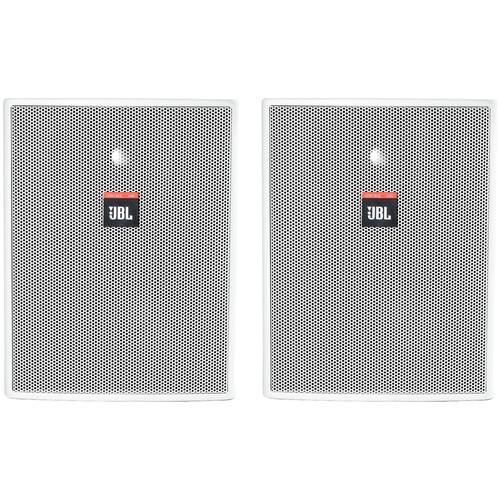 """JBL Control 25AV-WH 5.25"""" 2-Way 200W Shielded Indoor/Outdoor Loudspeaker (Pair, White)"""