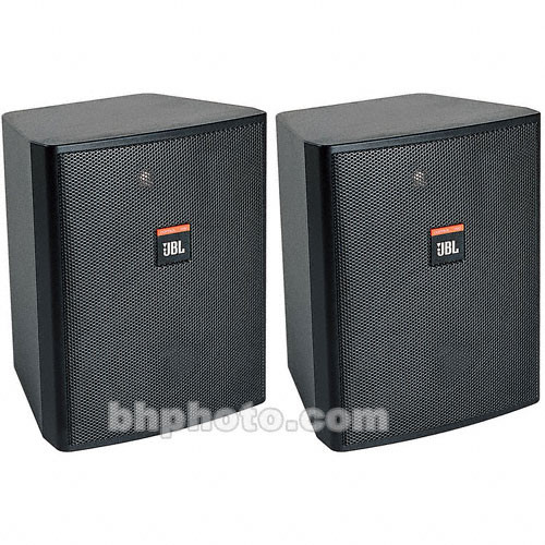 JBL Control 25T Monitor for use with 70/100V Audio Distribution - Black (Pair)