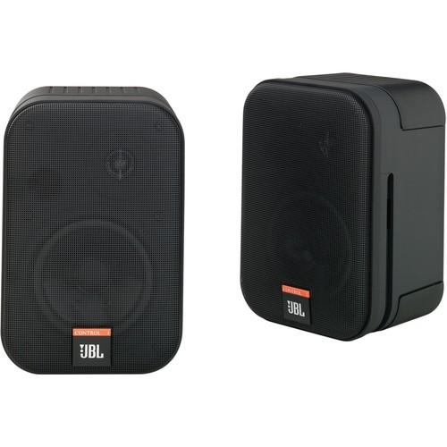 JBL Control One Monitor Bookshelf Loudspeakers w/Brackets (Pair)