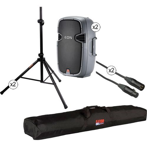 "JBL EON 315 Bi-Amplified 15"" Speaker System Kit"