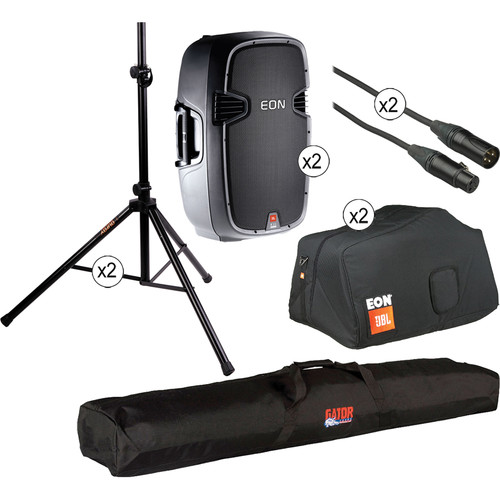"""JBL EON 515XT Bi-Amplified 15"""" Speaker Kit with Bags"""