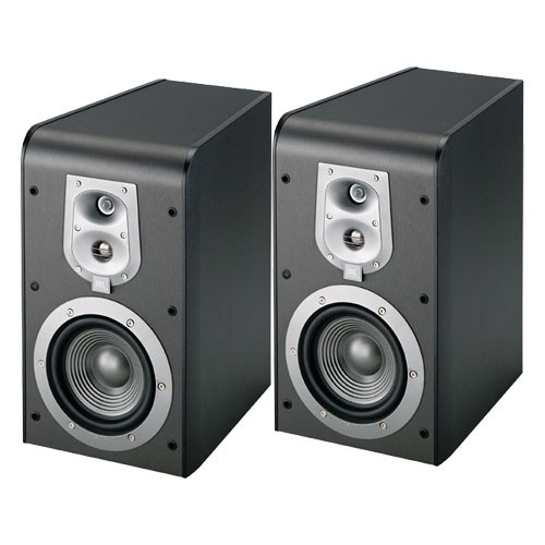 JBL ES20B 3-Way Bookshelf Speaker (Black, Pair)
