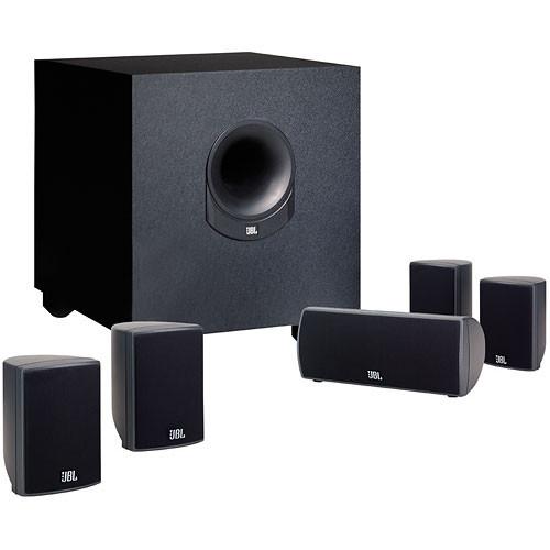 jbl scs145 5 complete 6 piece home cinema speaker scs145 5bk b h. Black Bedroom Furniture Sets. Home Design Ideas