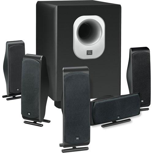 jbl scs500 5 6 piece home cinema speaker package scs500 5bk b h. Black Bedroom Furniture Sets. Home Design Ideas