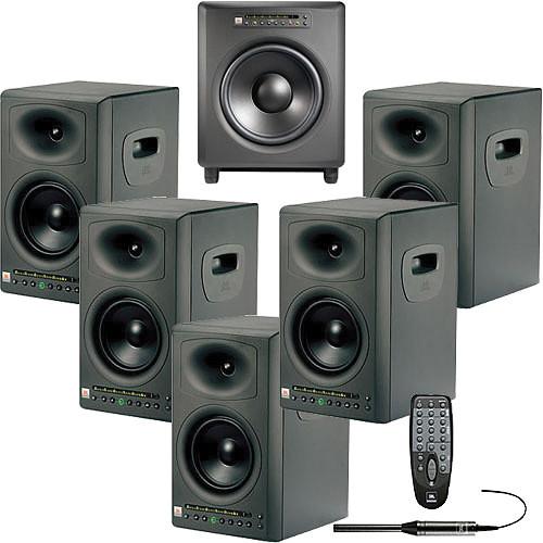 JBL LSR4326P & LSR4312SP 5.1 Studio Monitor System & Accessory Kit