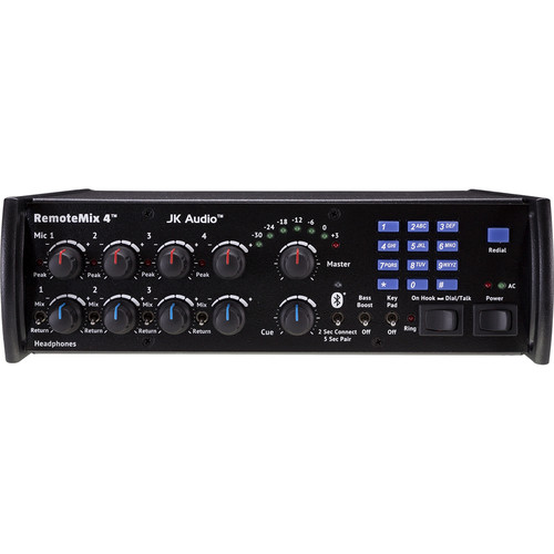 JK Audio RemoteMix 4 Portable Broadcast Mixer with Phone Line Hybrid