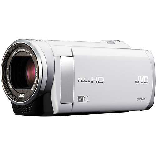 JVC GZ-EX210 Full HD Everio Camcorder with WiFi (PAL) (White)