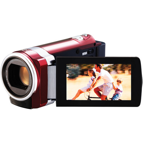 JVC GZ-HM650 HD Everio PAL Camcorder (Red)